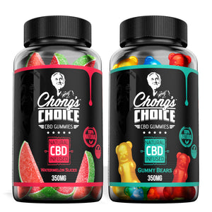 Chong's Choice - CBD Gummies Edible Bundle Gummy Bears & Watermelon Slices