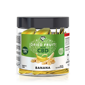 Diamond CBD - Edible Dried Fruit Banana Chips 500mg