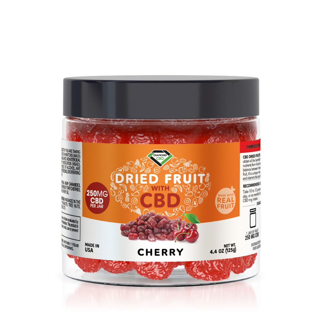 Diamond CBD - Edible Dried Fruit Cherries 250mg