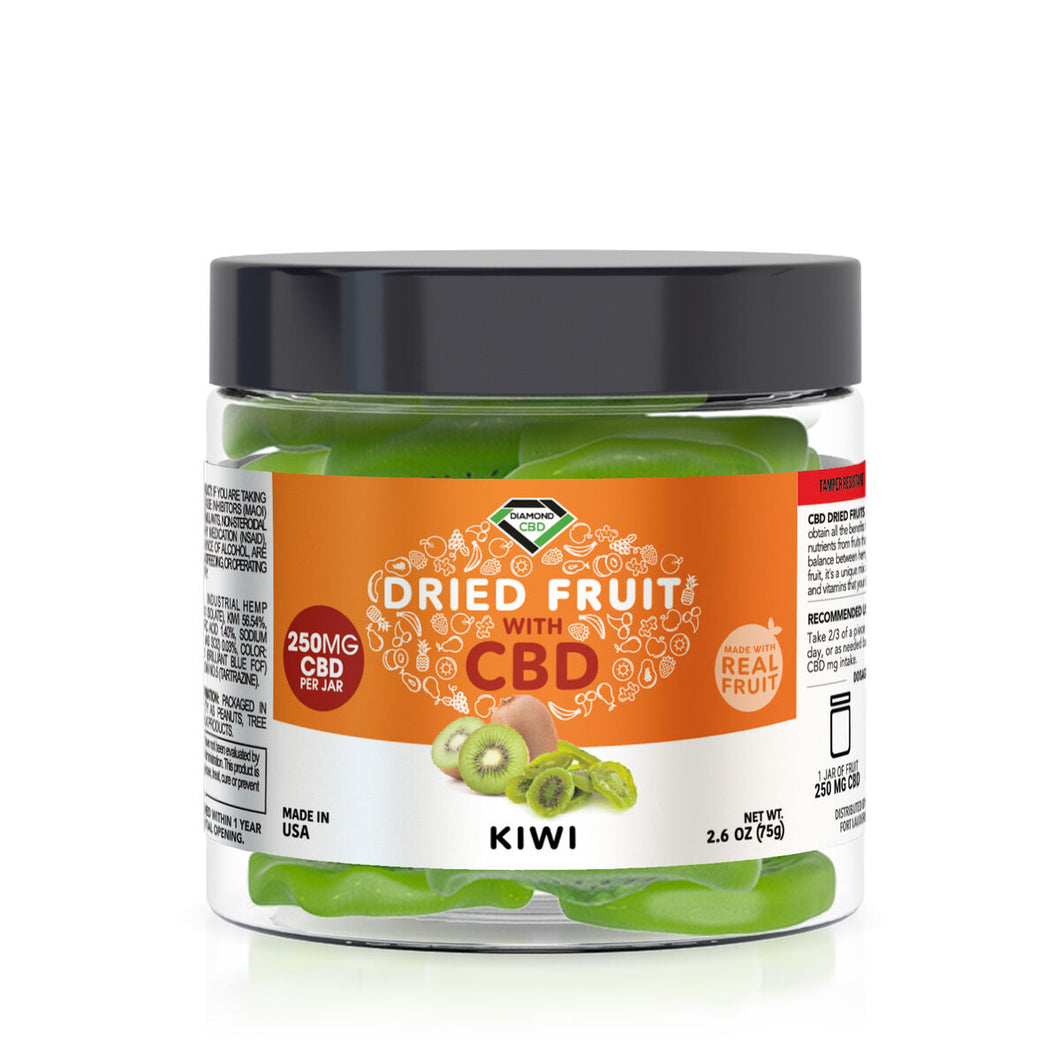 Diamond CBD - Edible Dried Fruit Kiwi 250mg