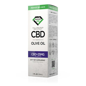 Diamond CBD - Olive Oil Full Spectrum 25mg 30ml