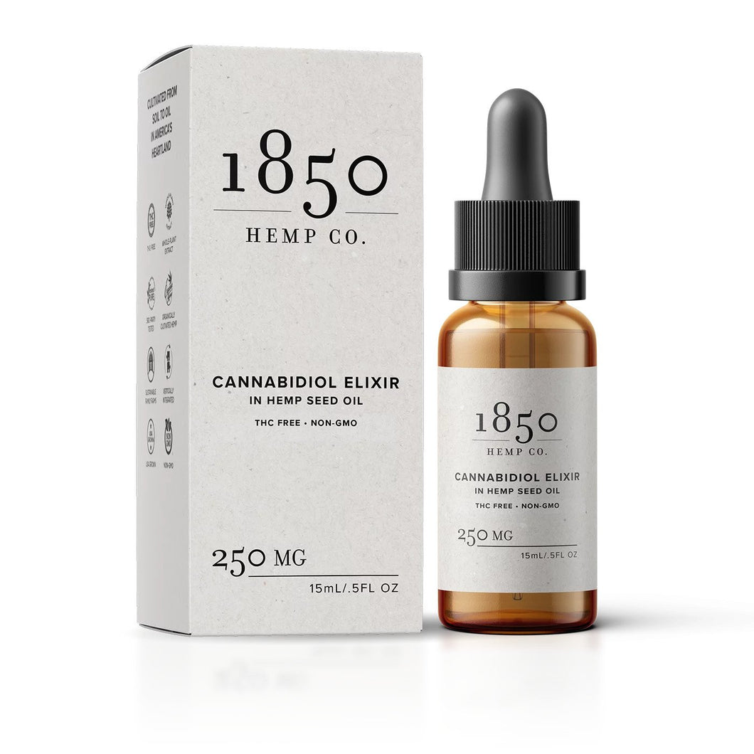 Pure Spectrum - CBD Tincture 1850 Hemp Co.'s ELIXIR 250mg