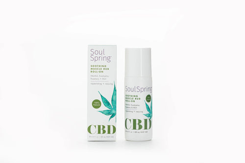 Soul Spring - CBD Roll-on Muscle Rub Soothing 500mg