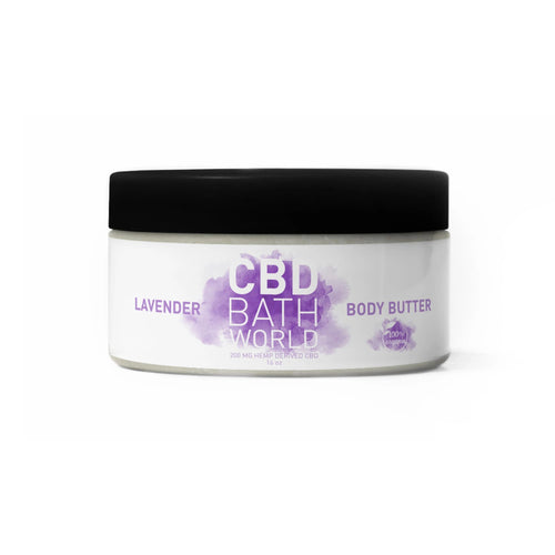 CBD Bath World - Body Butter Lavender 16oz.