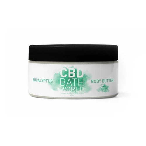 CBD Bath World - Body Butter Eucalyptus 16oz.