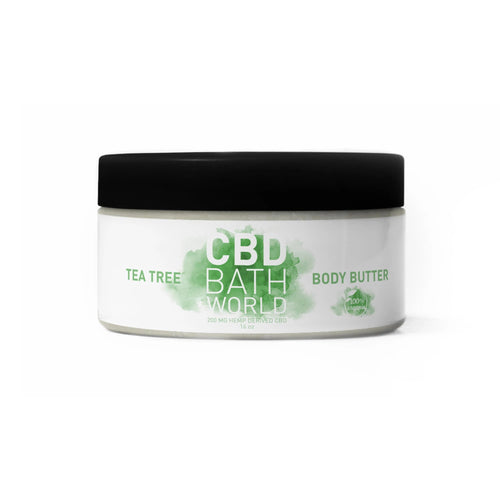 CBD Bath World - Body Butter Tea Tree 16oz.