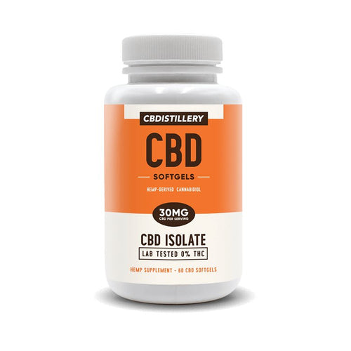 CBDistillery - CBD Capsule Isolate Softgels 60ct