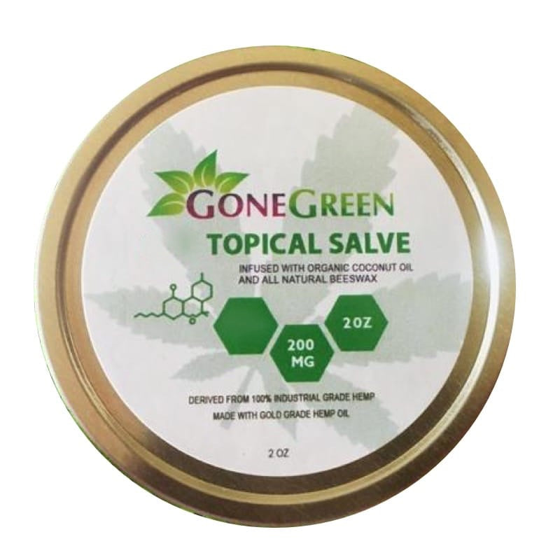 Gone Green - CBD Cream & Ointment Topical Salve 2oz 200mg