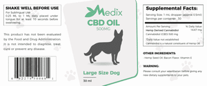 Medix CBD - Pet Oil for Large Dogs Bacon Flavor 500mg