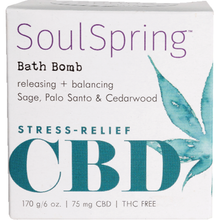 Load image into Gallery viewer, Soul Spring - CBD Bath Bomb Stress-Free 6oz.