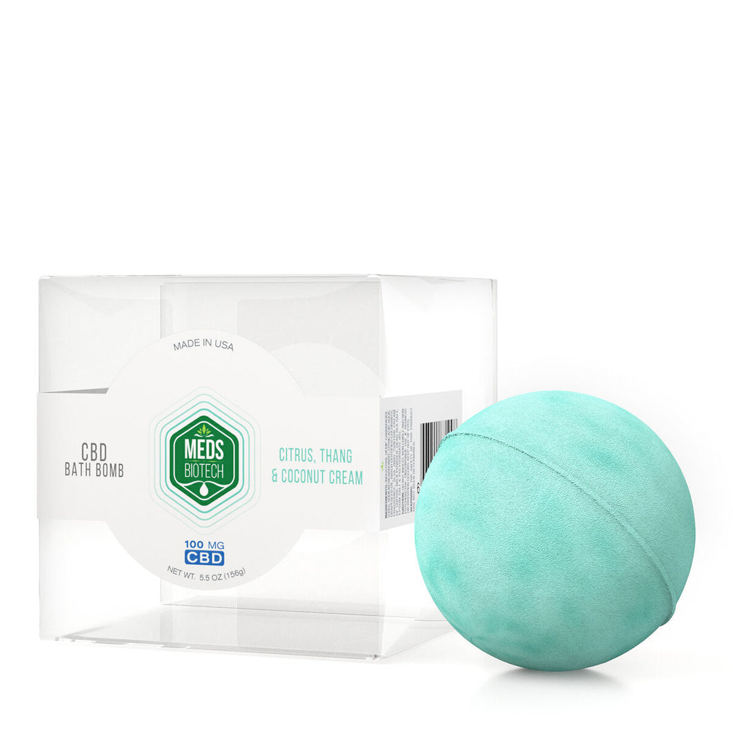 Meds Biotech - CBD Bath Bomb Citrus Thang & Coconut Cream 100mg