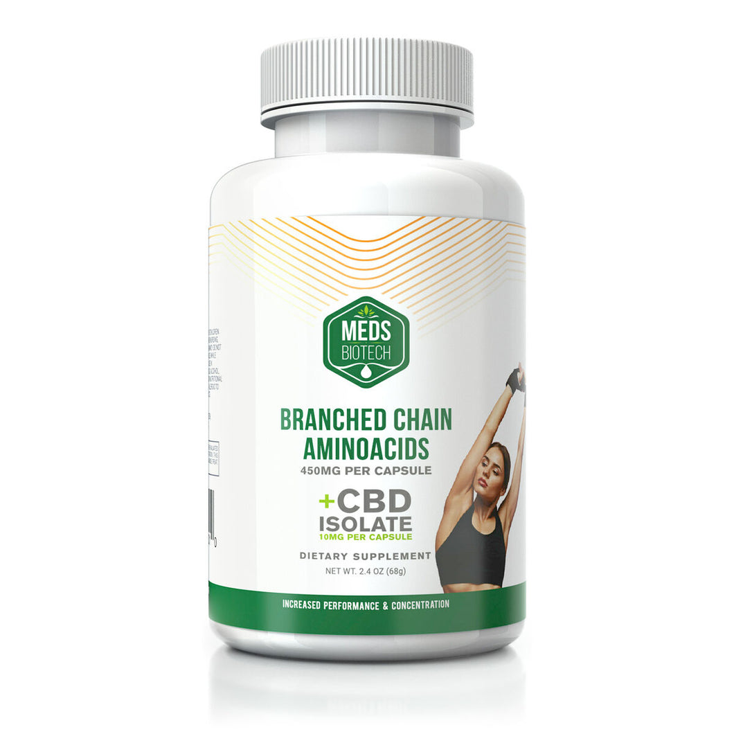 Meds Biotech - CBD Capsules Branched Chain Amino Acids 500mg