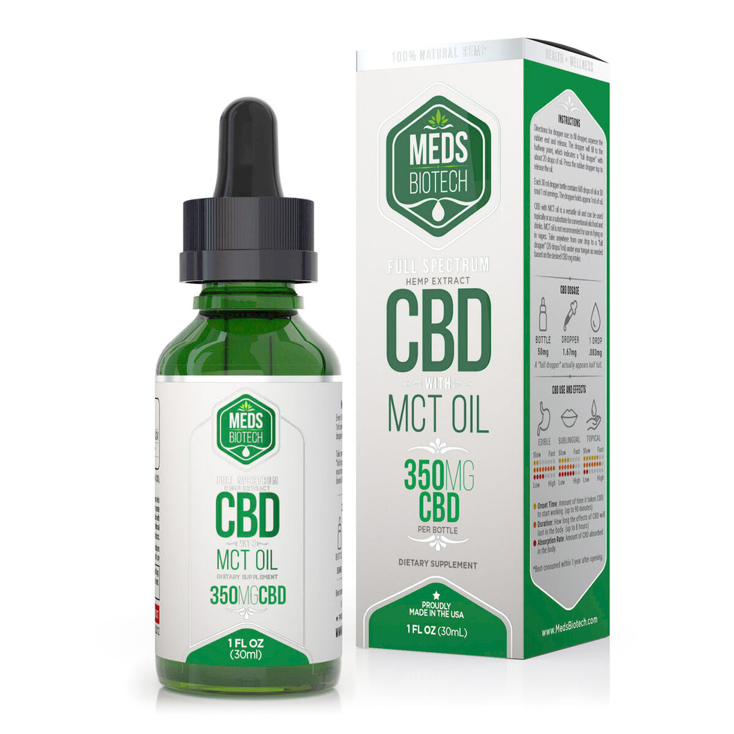 Meds Biotech - CBD Oil Full Spectrum MCT 350mg (30ml)