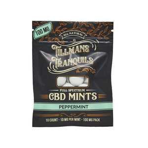 Tillmans Tranquils CBD - Edible Mints Peppermint Full Spectrum 1 Pack
