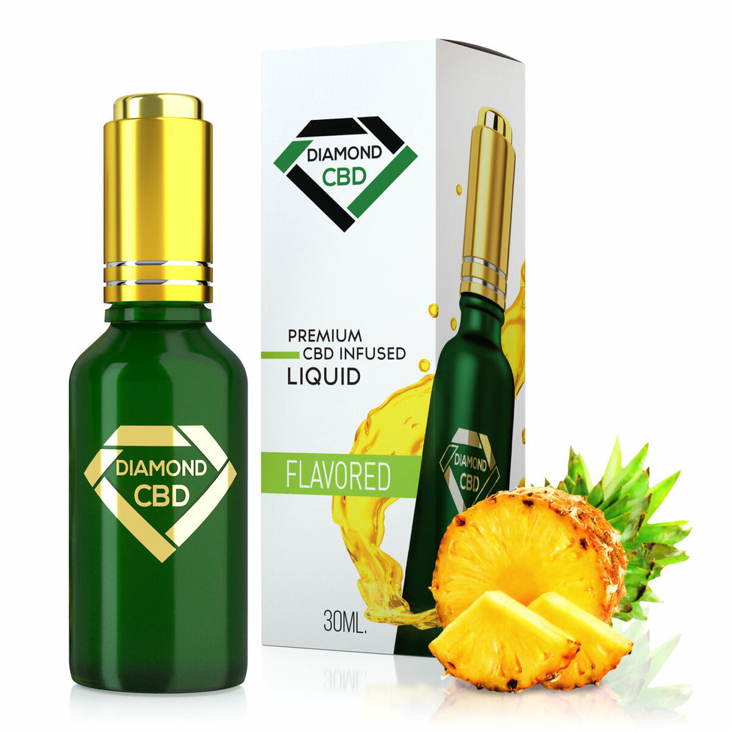 Diamond CBD - Oil Pineapple Flavor Full Spectrum Tincture 30ml.