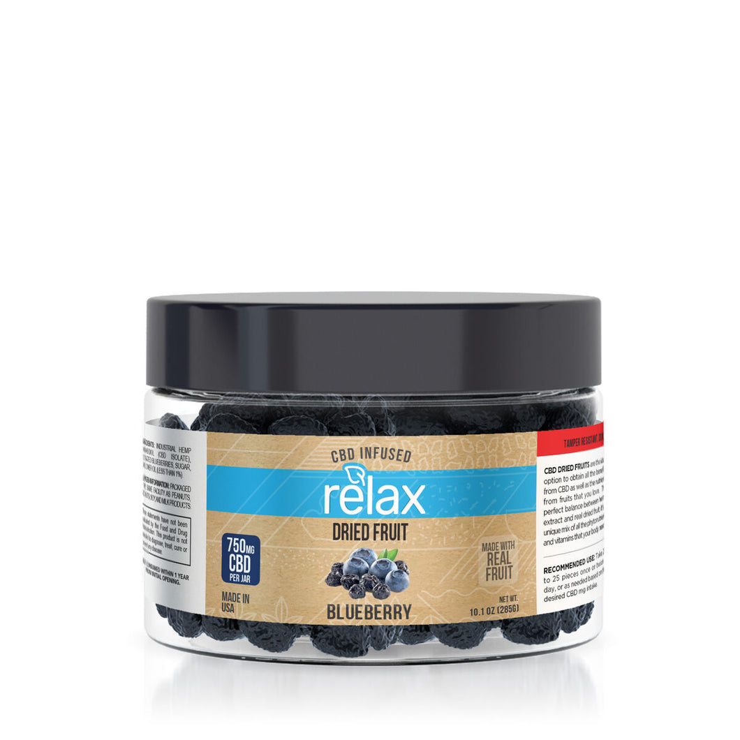 Relax - CBD Edible Dried Fruit Blueberries 750mg