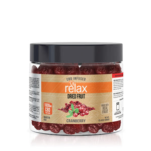 Relax - CBD Edible Dried Fruit Cranberries 1000mg