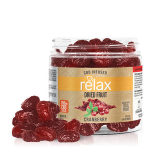 Relax - CBD Edible Dried Fruit Cranberries 250mg