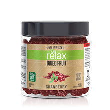Load image into Gallery viewer, Relax - CBD Edible Dried Fruit Cranberries 500mg