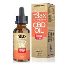 Load image into Gallery viewer, Relax - CBD Oil Full Spectrum Tincture 1000mg