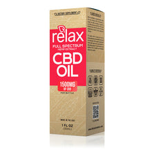 Load image into Gallery viewer, Relax - CBD Oil Full Spectrum Hemp Seed Extract 1500mg 30ml