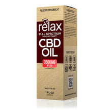 Load image into Gallery viewer, Relax - CBD Oil Full Spectrum Tincture 3500mg