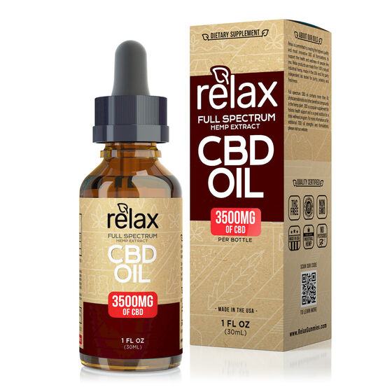 Relax - CBD Oil Full Spectrum Tincture 3500mg
