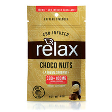 Load image into Gallery viewer, Relax - CBD Gummies Choco Nuts 100mg