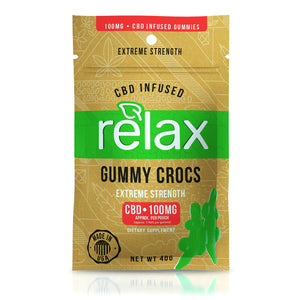Relax - CBD Gummies Infused Gummy Crocs 100mg