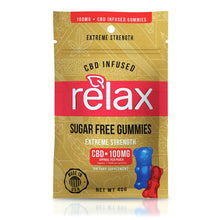 Load image into Gallery viewer, Relax - CBD Gummies Sugar Free 100mg