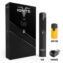 Load image into Gallery viewer, Ignite CBD - Starter Kit Bō Signature Pen with Charger Flavor 2 Pods