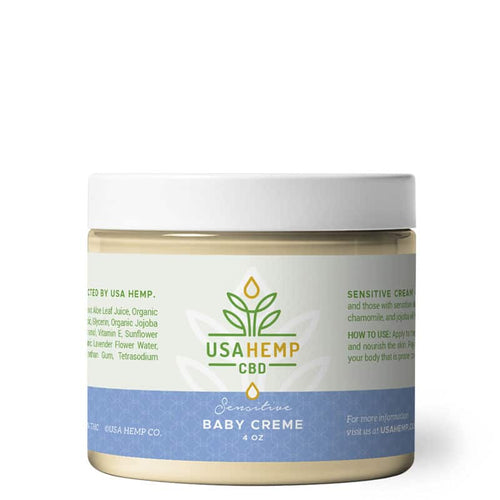 USA Hemp Co. - CBD Cream Baby Sensitive 4oz.