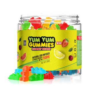 Yum Yum - CBD Gummies Infused Edible Gummy Bears 1500mg
