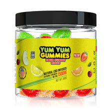 Load image into Gallery viewer, Yum Yum - CBD Infused Gummies Sour Gummy Rings 1500mg