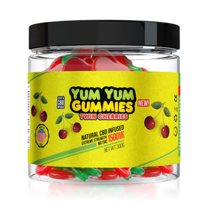 Yum Yum - CBD Gummies Infused Twin Cherries Slices 1500mg