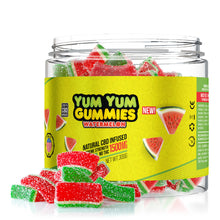 Load image into Gallery viewer, Yum Yum - CBD Gummies Edibles Infused Watermelon Slices 1500mg