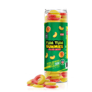 Yum Yum - CBD Infused Gummies Edible Peach Rings 250mg