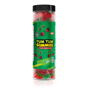 Yum Yum - CBD Gummies Infused Twin Cherries Slices 250mg