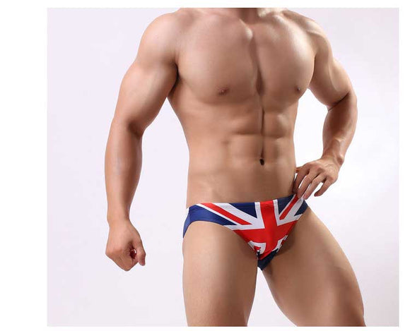 Men's International Flag Print Swim Briefs (Selling Fast)