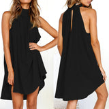 Womens Holiday Irregular Dress Ladies Summer Beach Sleeveless Party Dress vestidos verano 2018 New Arrival dresses for women