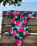 Women 2019 Flounce Off Shoulder Swimsuit Ruffle One Piece Swimsuit Women Sexy Bodysuit Monokini Swimwear Bathing Suit