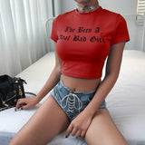 Short Sleeve Crop Top Graphic Print T-Shirt