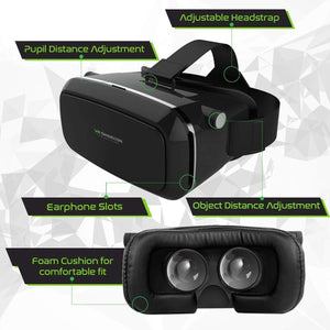 Shinecon VR 3D Glasses + Wireless RC Gamepad