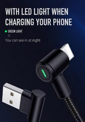 iPhone Lightning 90° USB Charger