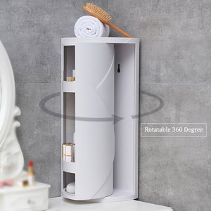 360 Degree Rotating Organizer Corner Shelf Rack