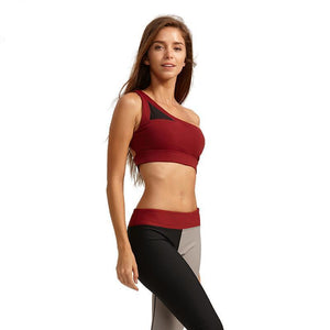 Fitness Sports Yoga Running Sexy Bra One Shoulder Strap