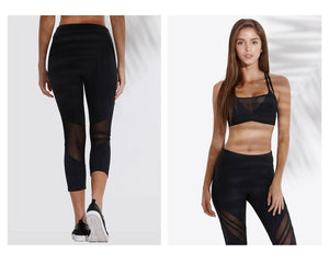 Sports Warp Knitting Mesh Yoga Pants