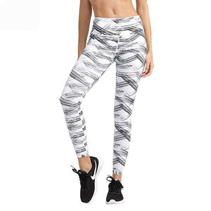 Sports Pants Bronzing Pattern Yoga Fitness Leggings Breathable Highly Elastic Quick Dry Running Tights