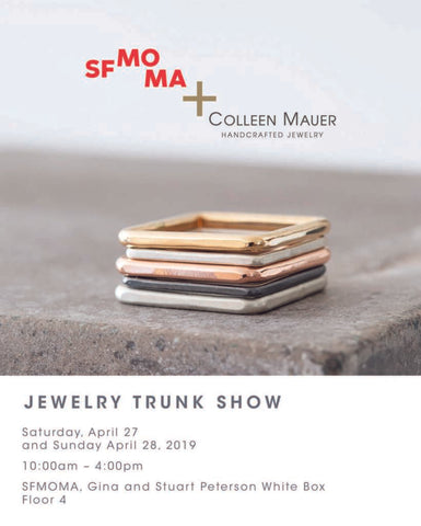 SFMOMA Jewelry Trunk Show April 2019 – Postcard Image, Event Image
