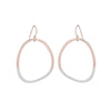E299g.rg Two-Toned Mixed Metal Stone Earrings in Rose Gold and Sterling Silver
